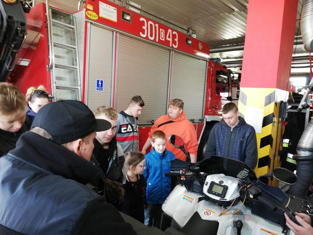 Klasa 7a w Centrum Edukacyjnym Komendy Miejskiej Państwowej Straży Pożarnej w Opolu