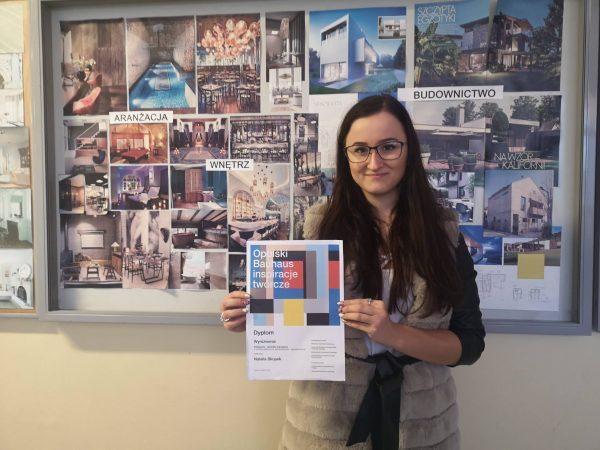Natalia z opolskiej Budowlanki wyróżniona w gronie studentów.