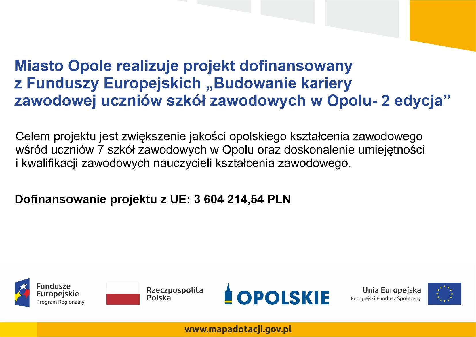 Budowanie kariery zawodowej uczniów szkół zawodowych w Opolu – 2 edycja