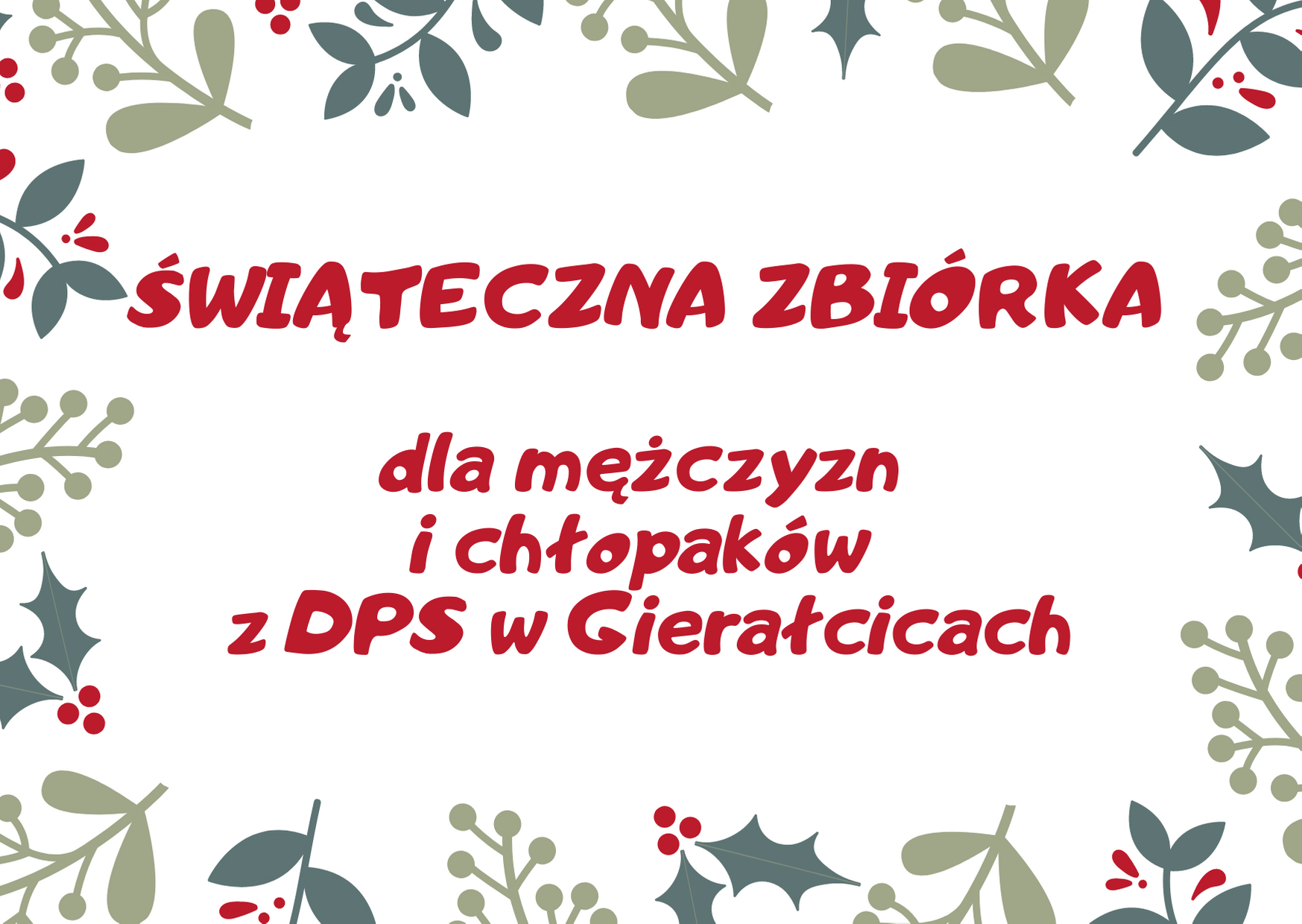 Zbiórka dla DPS Gierałcice